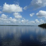 View from the airboat across the lake.......