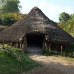 Reconstruction iron age building.
