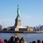 llegando a la Estatua de la Libertad