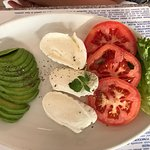 Avocado, mozzarella and tomato salad