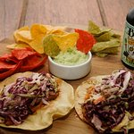 Pulled Pork Tacos, with artisan made tortilla chips !