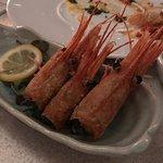 Deep fried spot prawn heads