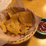 Our half eaten chips and salsa - free and unlimited