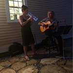 Jenn & Don were playing for the outside guests of Peyton Place