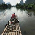 Taking an unplanned bamboo raft trip!