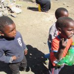 Cute and friendly kids in Soweto