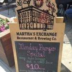 Foto de Martha's Exchange Restaurant and Brewing Co.