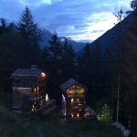 Chalet Laveret is on the right - this is the view from the main part of the Chalet