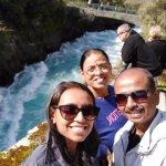 Huge, thunderous and emerald green waters gushing out at a force umimaganibale at Huka falls.