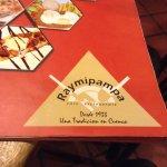 Big varied menu
