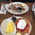 French toast and waffles