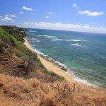 View from the turnaround point--Surf at Diamond Head