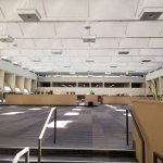 Old school motor lodge-style indoor event area near indoor pool