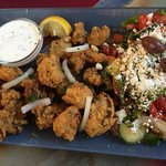 Calamari and Greek Salad