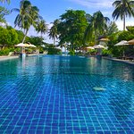 The huge pool at Maehaad Bay Resort