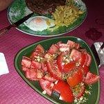 Pluma iberica + tomates aliñaos