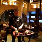 Our server makes guacamole to our taste and in our presence.