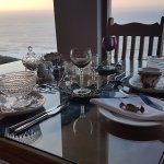 Stunning set up for breakfast with a magnificent view