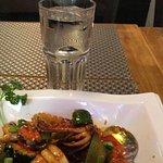 Grönsaker med räkor