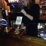 Pouring a proper ale!