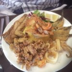 Fried seafood selection