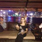 Drinks on the upper deck of the Aqua Luna