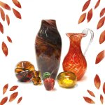 Autumn glass by Bath Aqua Glass