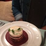 Goats cheese and beetroot starter