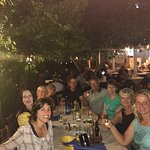 Salento Bici Tour group enjoying food and wine after a good days cycling.