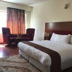 Hotel room and inner garden