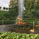 one of the fountains in the gardens at Peter's summer home