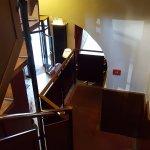 Particolare della scala accesso alle camere