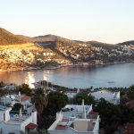 The sun coming up over Kalkan