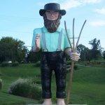 Amish farmer statue