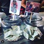 Creative tip jar at Philz Coffee in Santa Monica.