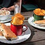 Snacks; paninis, granola, artisanal chips,