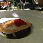Pan fried turbot with puy lentils