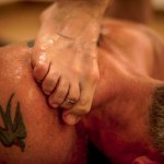 Chavutti massage (done with the therapists feet!)