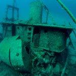 Harbour wreck dive
