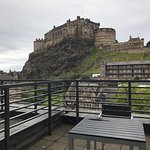 Patio with excellent view of Edinburgh Castle