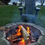 Fire pit at the landing