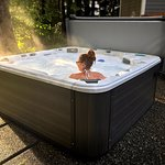 Outdoor Hot Tub Spa - Beautiful, modern multi-jetted massage spa with erogonomic seating