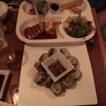 Golden dragon roll and bento box