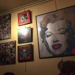 Framed pics all over the restaurant