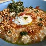 mushroom and kale grain bowl