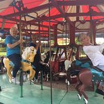 The beautifully restored antique carousel at Shelburne Museum