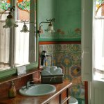 Bathroom with original tiles and paint
