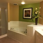 Master bathroom in the 2-bedroom villa