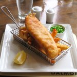 Great Fish & Chips at The Dalmore Inn - Blairgowrie (05/Sept/17).