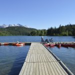The jetty has paddle boards, canoes, & kayaks the are free to use.
